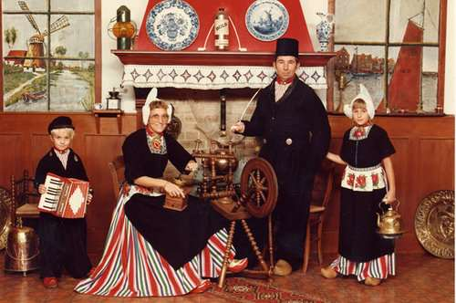 Vintage Dutch costumes taken in Volendam, Netherlands when I was a child circa 1985