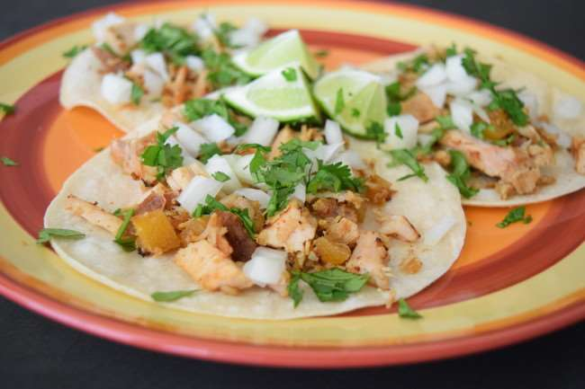 Tacos Al Pastor (marinated pork tacos) | Little Family Adventure