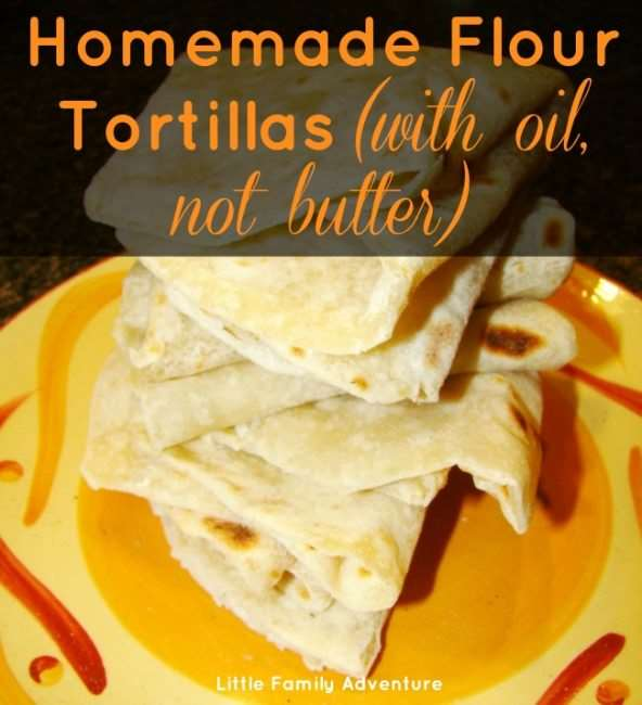 homemade flour tortillias