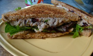 Cranberry Turkey Salad Sandwich