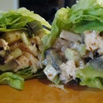 Almond chicken and apple wraps #lunch #recipe