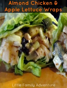 Almond Chicken and Apple Lettuce Wraps