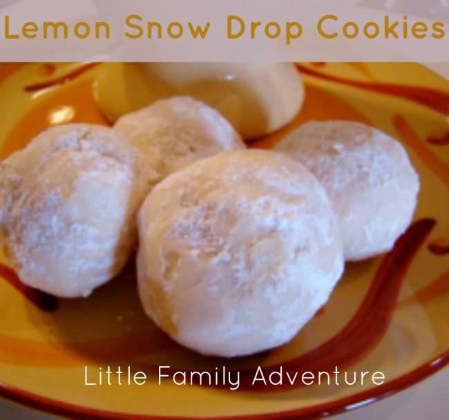 Lemon Snow Drop Cookies