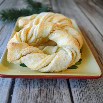 German Sour Cream Twists – My Grandmother's Sugar & Yeast Cookies
