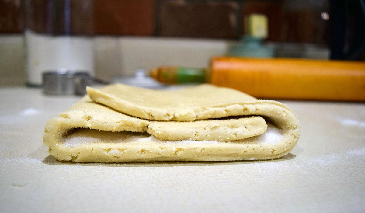 letter folded dough