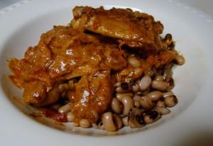 braised chicken in a paprika sauce