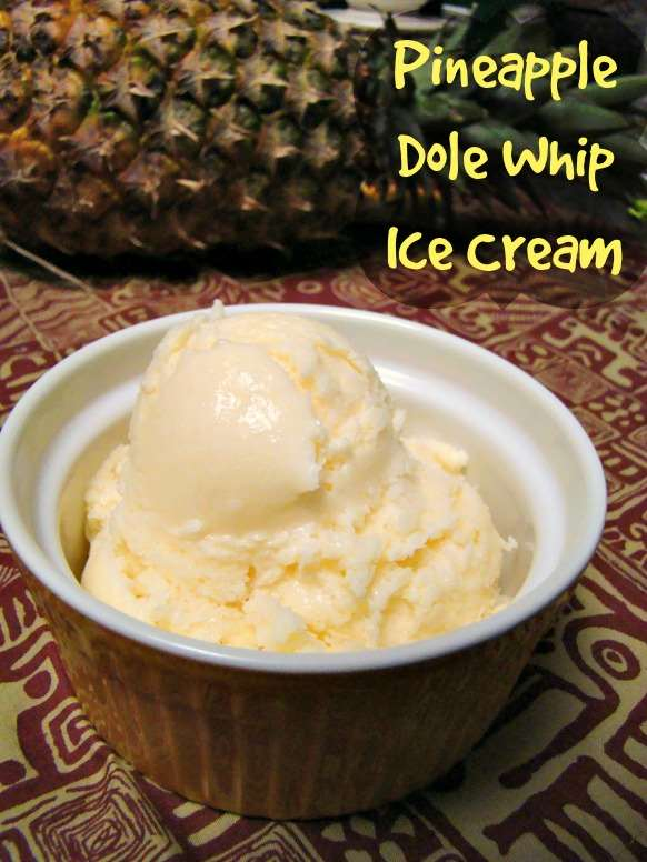 Famous disney parks pineapple dole whip homemade recipe pineapple ice cream in a bowl ccuart