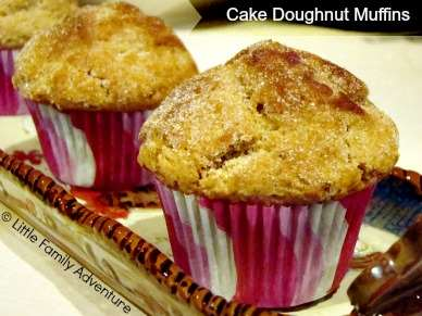 It's Time To Make The Doughnuts...... Cake Doughnut Muffins