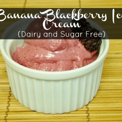 Banana Blackberry Ice Cream (Dairy and Sugar Free)