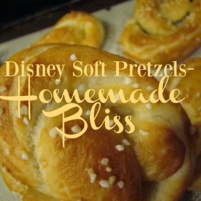 Disney Soft Pretzels- Homemade Bliss