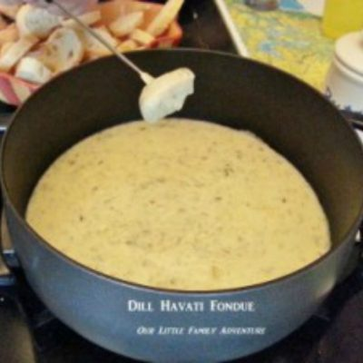 Family Fun Night with Dill Havarti Fondue