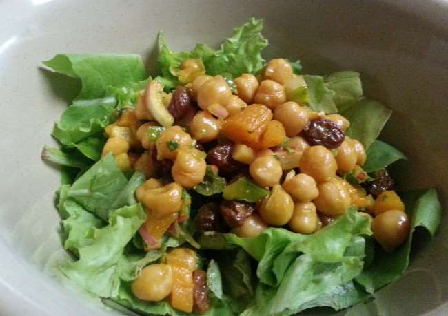 Sweet and Curried Chickpea Salad