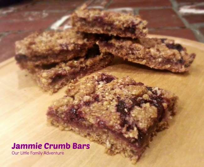 Jammie Crumb Bars - Fill with any flavor of jam for a personalized snack bar.