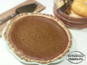Homemade Pumpkin Pie from Little Family Adventure