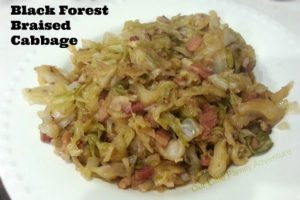Black Forest Braised Cabbage- Slow cooked with bacon and hard apple cider
