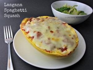 Lasagna Spaghetti Squash - A healthy variation on a classic lasagna. #Healthy #glutenfree #cleaneating #realfood