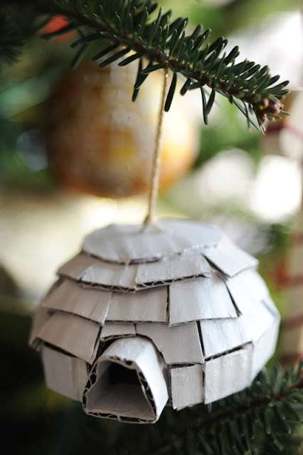Cardboard Igloo Ornaments