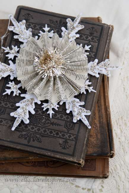 Vintage Snowflake Ornament - 10 Homemade Christmas Ornaments