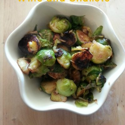 Brussel Sprouts with Wine and Shallots