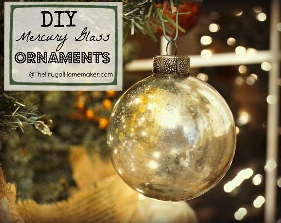 Faux Mercury Glass Ornments- 10 Homemade Christmas Ornaments