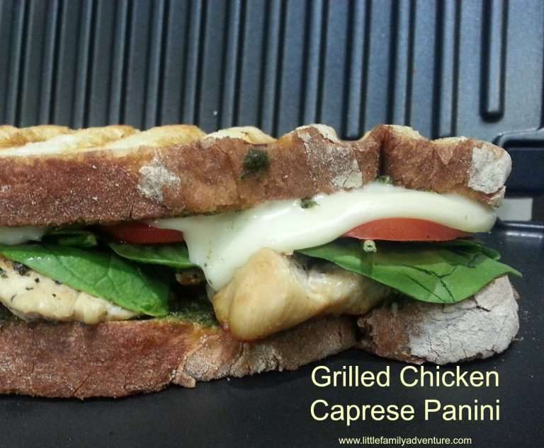 Grilled Chicken Caprese Panini Little Family Adventure