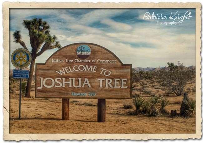Joshua Tree California sign