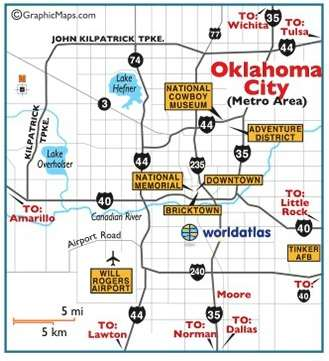 Oklahoma CIty Map - Little Family Adventure
