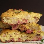 Spanish Tortilla with Ham from Little Family Adventure