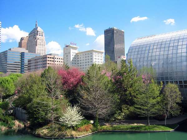Myriad Garden and Crystal Bridge