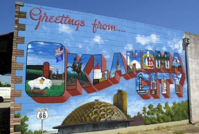 Greetings from Oklahoma City mural