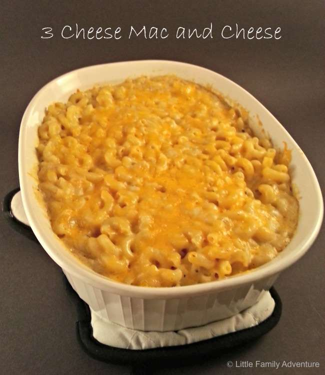 3 cheese macaroni and cheese - Classic American Comfort Food - The Best recipe you'll ever eat!
