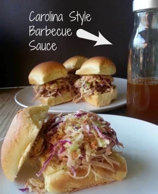 Carolina Vinegar Based Barbecue Sauce - #BBQ #vinegar #recipe