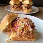 Carolina Pork Sliders and Sweet Coleslaw