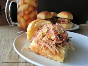 Carolina Sliders with coleslaw #sandwiches #BBQ #recipe