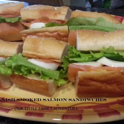 Danish Smoked Salmon Sandwiches