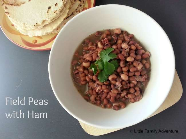Field Peas with Ham - Little Family Adventure