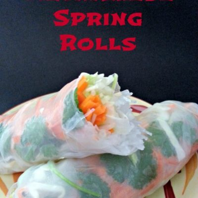 Vietnamese Shrimp Spring Rolls with Thai Peanut Sauce
