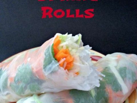 Vietnamese Shrimp Spring Rolls Raw veggie rolls with cabbage, carrot, bean sprouts, herbs, and rice noodles. #recipe #cleaneating