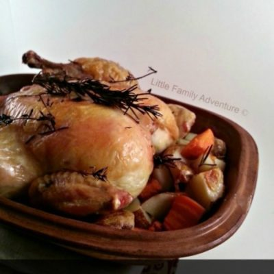 Roast Chicken in a Clay Pot