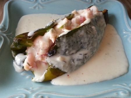Shrimp Stuffed Poblano Pepper
