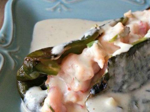 Shrimp Stuffed Poblano Pepper