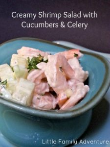 Creamy Shrimp Salad with Cucumber & Celery - Healthy recipe that is quick and easy