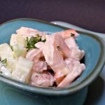 Creamy Shrimp Salad with cucumber and celery- Healthy, quick & easy recipe