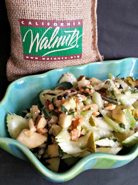 Celery Apple and Walnut Salad @CaWalnuts #CaWalnuts