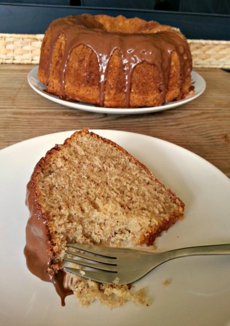 Hazelnut Pound Cake with Nutella Frosting