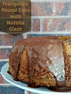 Frangelico Pound Cake with Nutella Glaze |Little Family Adventure - Moist and delicious cake with a little chocolate glaze. Perfect for dessert, snacks, and even breakfast. #realfood #recipe