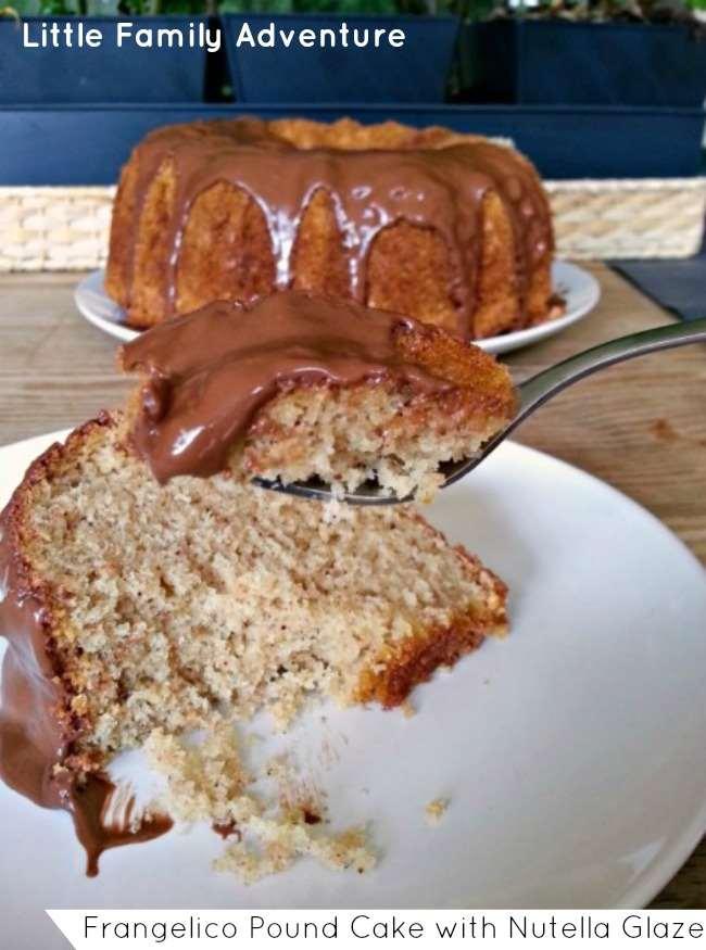 Frangelico (Hazelnut) Pound Cake with Nutella Glaze