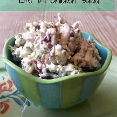 Lite Dill Chicken Salad