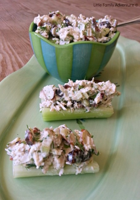 Lite Dill Chicken Salad with Celery - This a healthy way to enjoy chicken salad. Healthy recipe with less fat.