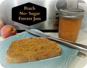 Peach Jam- No Sugar Added Freezer Jam